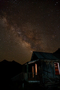 Photograph of the Milky Way and Old Cabin