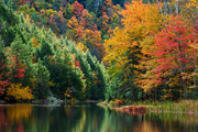 Autumn photograph of a Vermont lake.