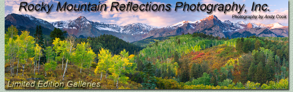 Welcome to the landscape photography galleries of Andy Cook. Images of Colorado, the Rocky Mountains and the West.