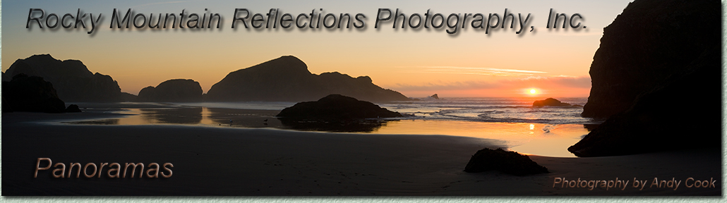 Welcome to Andy Cook's galleries of panoramic photography, landscape photos. Exquisite, panoramic photographs.
