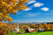 Autumn photograph of Peachham, Vermont.