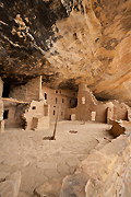 Photograph of Spruce Tree House in Mesa Verde, Colorado.