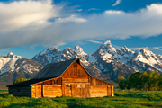 Photograph of a barn in Grand Teton National Park, Wyoming.