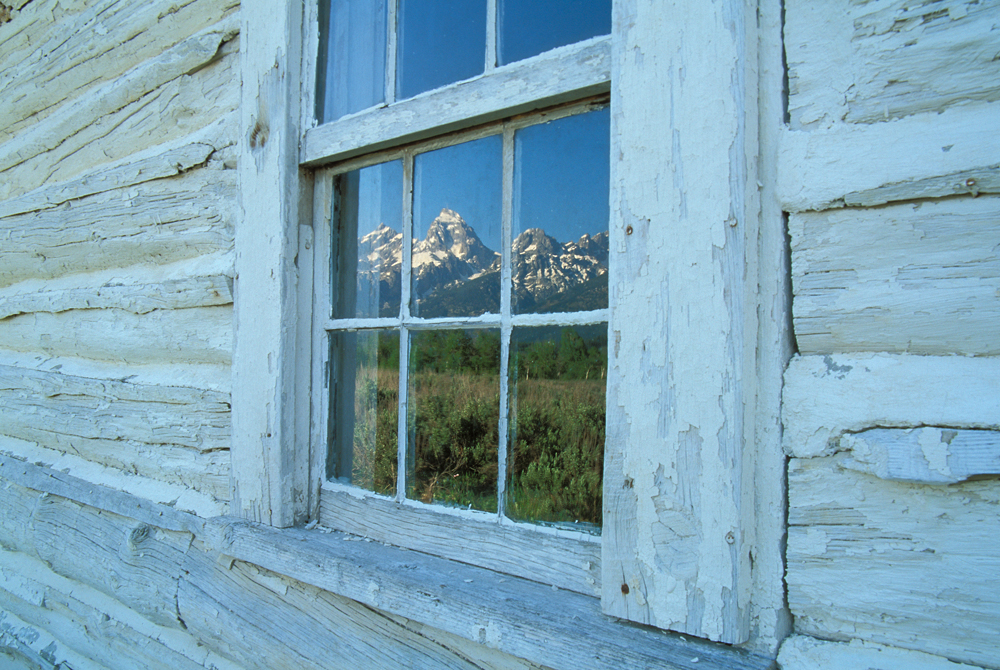 Grand teton window reflection image for Picture window