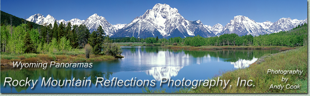 Welcome to a gallery of Wyoming, landscape, panoramic photography. Exquisite Photographs of WY by landscape photographer Andy Cook.