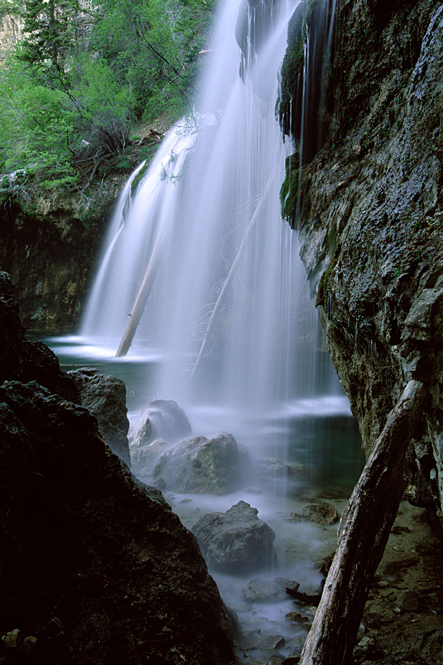 Waterfall photograph; Hanging Lake Falls, Glenwood Springs, Colorado.