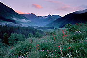 Photograph of morning near Crested Butte, Colorado.