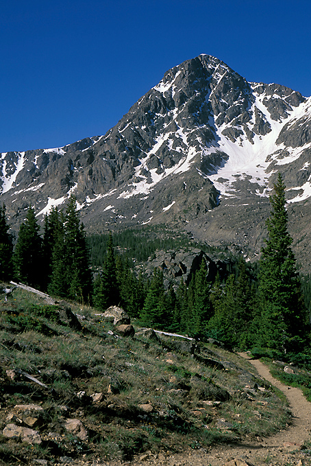 Photograph of a Colorado mountain and hiking trail.