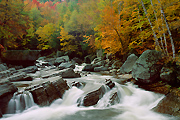 Autumn photograph of a Vermont river.