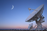 Photograph of the Very Large Array near Socorro, New Mexico.