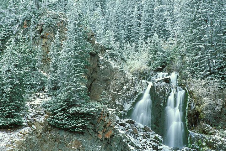 Colorado winter waterfall picture