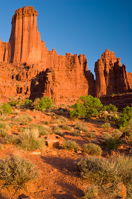 Image of Fisher Towers near Moab, Ut.