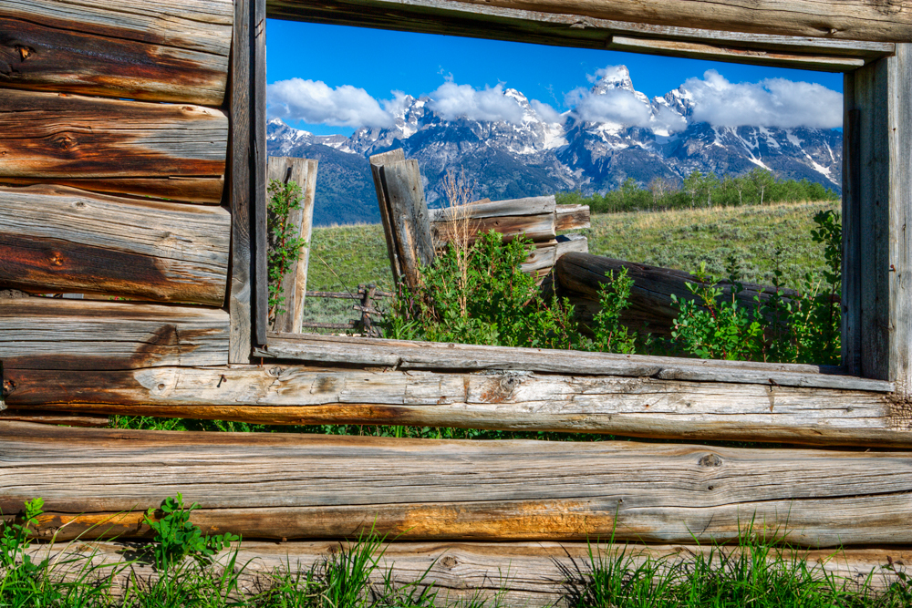 The Luther Taylor, aka Shane cabin and Teton range | Flickr
