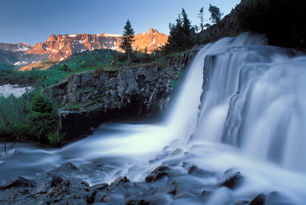 Pic of a waterfall in Yankee Boy Basin.